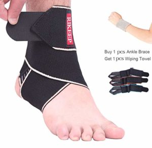 Compression sleeve for sprained ankle