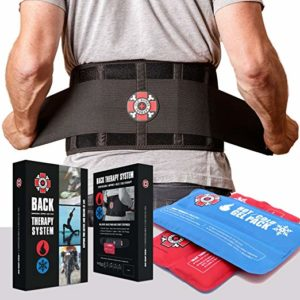 Back Brace for heavy lifting with Ice Packs