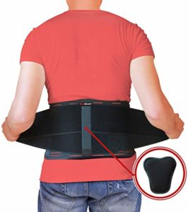 Protects the back while lifting heavy loads