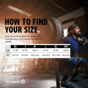 Sizing Chart for rehband knee sleeve
