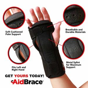AidBrace wrist support for carpal tunnel syndrome
