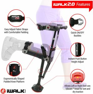 WALK2.0 Hands Free Knee Crutch - Best crutch alternative