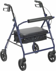 Drive Medical 10216BL-1 Bariatric Rollator with Wheels