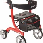 Drive Medical Nitro Euro Style Red Rollator Walker, Tall