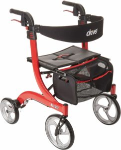 Drive Medical Nitro Euro Style Red Rollator Walker - Overall best for outdoor use