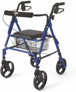 Medline Folding Rollator Walker with Folding 8-inch Wheel