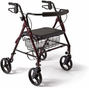 Medline Heavy Duty Bariatric Aluminum Mobility Rollator Walker