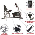 Sunny Health & Fitness Magnetic Recumbent Bike Exercise Bike