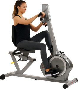 Sunny Health & Fitness Recumbent Bike SF-RB4631 with Arm Exerciser