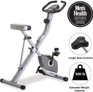 Exerpeutic Folding Magnetic Upright Exercise Bik